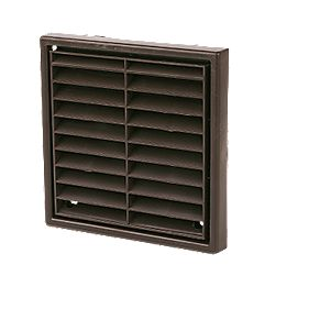 Manrose Fixed Louvre Vent Brown 140 x 140mm