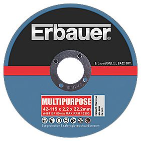Erbauer Multipurpose Diamond Cutting Disc 115mm