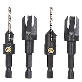 Trend Snappy Countersink & Plug Cutters 4 Piece Set