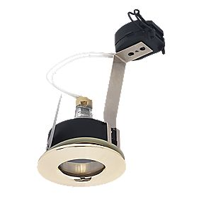 Halolite Fixed Bathroom Downlight Polished Brass 12V