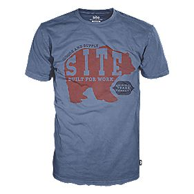 "Site Bear T-Shirt Blue Medium 39-42"" Chest"
