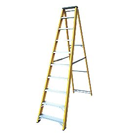 Lyte GFBB10 Swingback Builders Step Ladder Fibreglass 10-Tread
