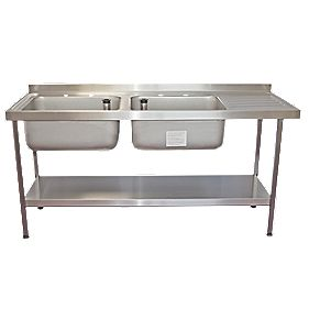 Screwfix Franke Sink : Franke Midi Catering Sink Stainless Steel 2-Bowl 1800 x 650mm ...