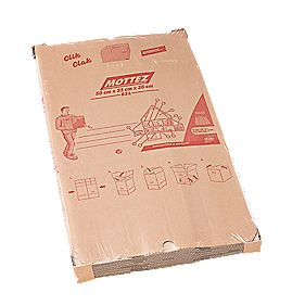 Mottez Automatic Folding Moving Box 63Ltr 500 x 330 x 380mm Pack of 5