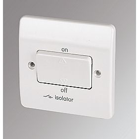 MK 10A 3-Pole Lockable Fan Isolator Switch White