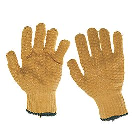 General Handling Gripper Gloves Orange Large