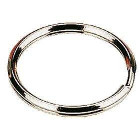 -Hook Split Ring Key Rings 25mm