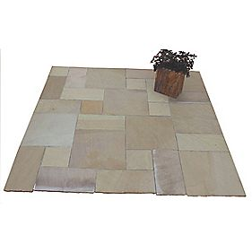 Natural Stone Whitchurch Raj Sandstone Patio Kit 5.76m²
