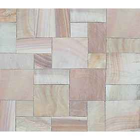 Natural Stone Whitchurch Camel Sandstone Patio Kit 11.52m²