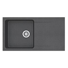 Franke Black Composite Sink : ... Sink Black 1-Bowl Reversible 940 x 510mm Composite Sinks Screwfix
