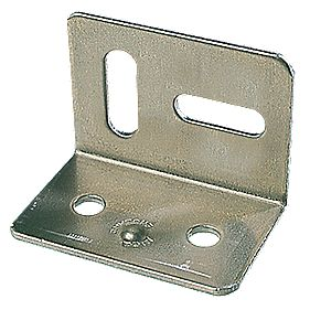 Stretcher Plates Zinc-Plated 38 x 28 x 25mm Pack of 10