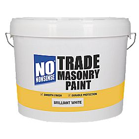 No Nonsense Trade Masonry Paint Pure Brilliant White 10Ltr