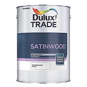 Dulux Trade Satinwood Pure Brilliant White 1Ltr