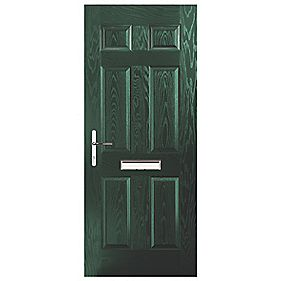 Portico Birkdale Composite Front Door Green RH 920 x 2055mm