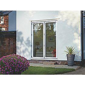 Unbranded Bi-Fold Double-Glazed Patio Door White Aluminium 1794 x 2094mm
