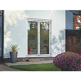 Spaceslide Bi-Fold Double-Glazed Patio Door LH White 1794 x 2094mm