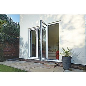 Spaceslide Bi-Fold Double-Glazed Patio Door RH White 2394 x 2094mm