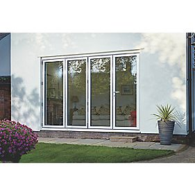 Spaceslide Bi-Fold Double-Glazed Patio Door RH White 3163 x 2094mm