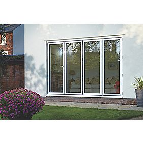 Bi-Fold Double-Glazed Patio Door White Aluminium 3163 x 2094mm