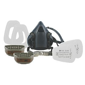 3M 7523 Half Mask Respirator & Filter Kit Large P3