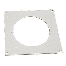 Manrose Round Wall Plate White 100mm