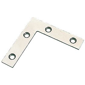 Angle Plates Zinc-Plated 76 x 76 x 16.5mm Pack of 10