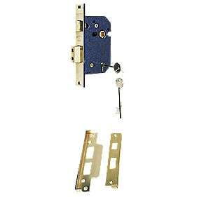 Securefast 5-Lever Standard Rebated Sashlock Brass Lux 2½ (64mm)