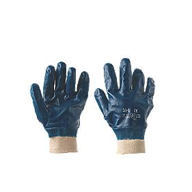 Keep Safe Nitrile Gloves Blue Large