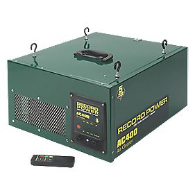 Record Power AC400 193Ltr/sec Remote Control 2-Stage Air Filter 230V