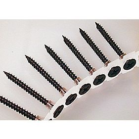 Collated Drywall Black Fine Thread Screws 3.5 x 25mm Pk of 1000