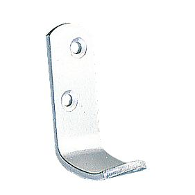 Hat & Coat Hook Satin Aluminium. 48mm Pack of 20