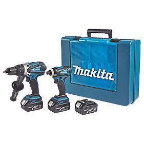 Makita DK18000X2 18V 3.0Ah Li-Ion Twin Pack Combi Drill & Impact Driver LXT