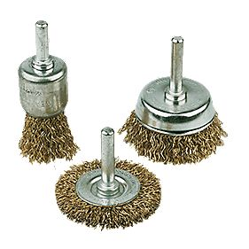Drill Carbon Steel Wire Brush Set 3Pc