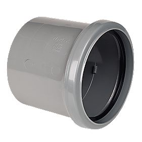 Pipe Coupler Single Socket Grey