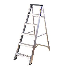 Lyte BSBB6 Swingback Builders Step Ladder Aluminium 6-Tread