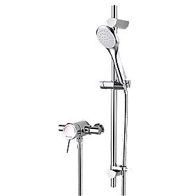 Bristan Acute Pressure Balancing Thermostatic Mixer Shower Exposed Chrome