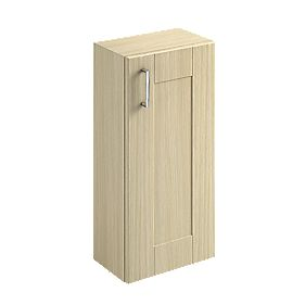 300mm Bathroom Base Unit 1-Shelf Oak Shaker Oak