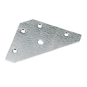 Corner Plates Zinc-Plated 83 x 0.9 x 83mm Pack of 10