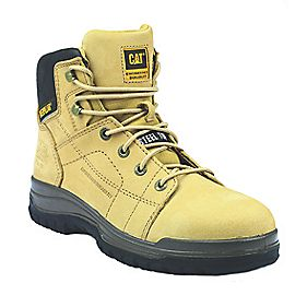 Cat Dimen 6 Safety Boots Honey Size 11