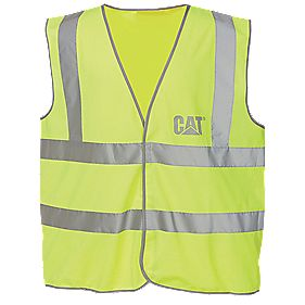 CAT C1322024 Hi Vis Vest Yellow L