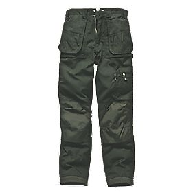 "Dickies Eisenhower Olive Trousers Olive 40"" W 32"" L"