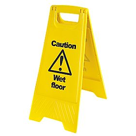 Caution Wet Floor A-Frame Safety Sign 680 x 300mm