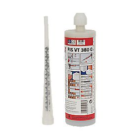 Fischer 524091 VT Vinylester Chemical Mortar Resin 380ml