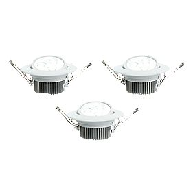 LAP Adjustable Integrated LED White 4.5W 240V Pack of 3