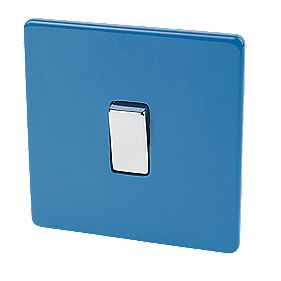Varilight 1-Gang 2-Way 10A Switch Cobalt Blue