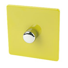 Varilight 1-Gang 2-Way 400W Push Dimmer Lime Green