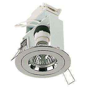 Halolite Fixed Round Polished Chrome 240V Mains Voltage Downlight