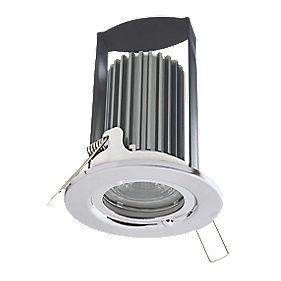 British General Fire Rated Fixed LED Downlight IP65 Polished Chrome 7W