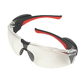 JSP Stealth Clear Lens Safety Specs with LEDs