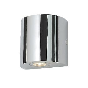 LAP Block LED Bathroom Wall Light Chrome 1W